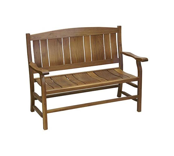 244BJF 4' Walnut Bench
