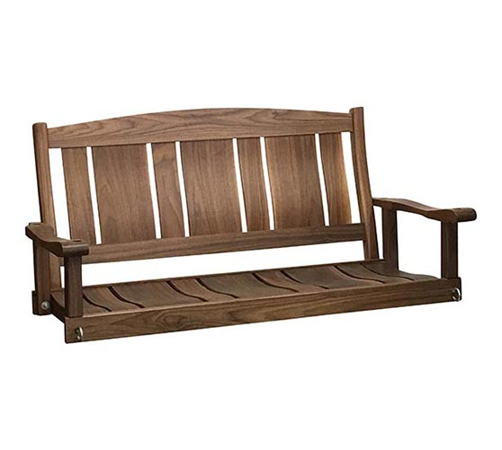 244PSJF  4' Solid Walnut Porch Swing